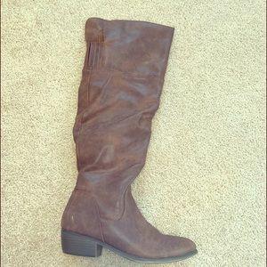 Calf height boots